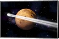 Comet Passing by Mars Fine-Art Print