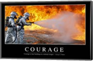 Courage: Inspirational Quote and Motivational Poster Fine-Art Print