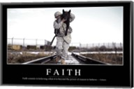 Faith: Inspirational Quote and Motivational Poster Fine-Art Print