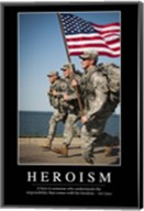 Heroism: Inspirational Quote and Motivational Poster Fine-Art Print