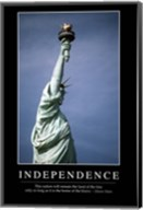 Independence: Inspirational Quote and Motivational Poster Fine-Art Print