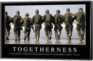 Togetherness: Inspirational Quote and Motivational Poster Fine-Art Print
