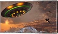 F-22 Raptors Chase a UFO Fine-Art Print