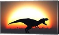 A T Rex Silhouett Fine-Art Print