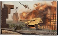 American P-47's Attacking German Jagdpanther Tanks Fine-Art Print
