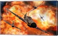 American P-51 Mustangs in Aerial Combat Fine-Art Print