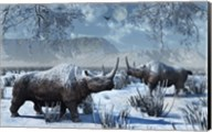 Woolly Rhinoceros in Winter Fine-Art Print