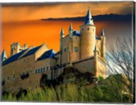 Alcazar castle at sunset, Segovia, Spain Fine-Art Print