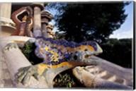 Lizard Mosaic in Parc Guell, Barcelona, Spain Fine-Art Print