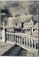 Spain, Seville, buildings of the Plaza Espana Fine-Art Print