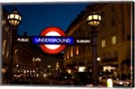 England, London Subway, Tube Entrance Fine-Art Print
