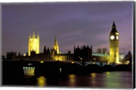 Big Ben and the Houses of Parliament at Night, London, England Fine-Art Print