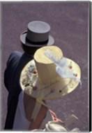 Man and woman wearing hats, Royal Ascot, London, England Fine-Art Print