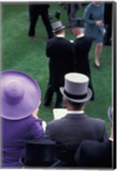 Formally dressed race patrons, Royal Ascot, England Fine-Art Print