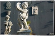 Greece, Ionian Islands, Kefalonia, Cherub Statue Fine-Art Print