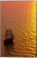 Big masked sailboat, Oia, Santorini, Greece Fine-Art Print