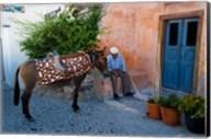 Resting Elderly Gentleman, Oia, Santorini, Greece Fine-Art Print