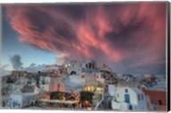 Sunset over Oia, Santorini, Greece Fine-Art Print