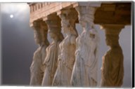 Greek Columns and Greek Carvings of Women, Temple of Zeus, Athens, Greece Fine-Art Print