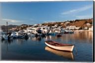 Boats in harbor, Chora, Mykonos, Greece Fine-Art Print