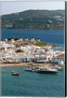 Greece, Mykonos, Chora, Inner Harbor of Mykonos Fine-Art Print