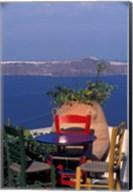 Terrace with Sea View, Santorini, Greece Fine-Art Print