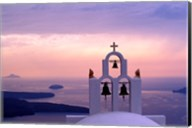 Belltower at Sunrise, Mykonos, Greece Fine-Art Print