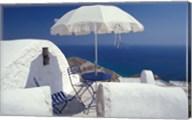 Terrace Overlooking Aegean Sea, Anafi, Cyclades Islands, Greece Fine-Art Print