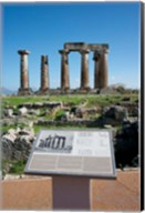 Greece, Corinth Doric Temple of Apollo Fine-Art Print