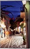 Alleyway at Night, Mykonos, Greece Fine-Art Print