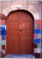 Old Brown Wooden Door, Rhodes, Dodecanese Islands, Greece Fine-Art Print
