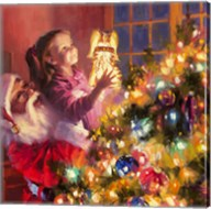 Santa Little Angel Bright Fine-Art Print