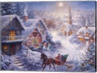 In A One Horse Open Sleigh Fine-Art Print