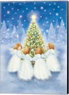 Christmas Tree and Gathering Angels Fine-Art Print