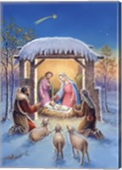 Mary and Joseph With Visitors Bearing Gifts Fine-Art Print