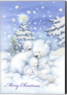 Merry Christmas Polar Bears Fine-Art Print