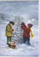 Christmas Tree Kid Check Fine-Art Print
