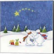 Bear Couple Holiday Snow Date Fine-Art Print