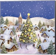 Village Christmas Tree Meet Fine-Art Print