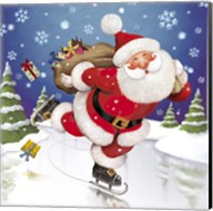 Santa's Skating This Christmas Fine-Art Print