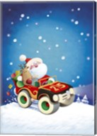 Santa Takes The Car Fine-Art Print