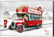 Santa's Happy Holiday Bus Fine-Art Print