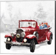 Santa's Red Classic Car Fine-Art Print