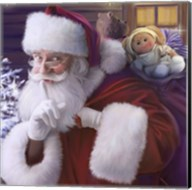 Shhh Santa's Doll And Bear Fine-Art Print