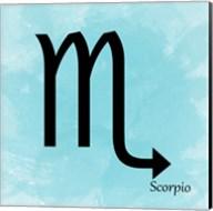 Scorpio - Aqua Fine-Art Print
