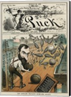 Puck Magazine Jay Gould's Private Bowling Alley Fine-Art Print