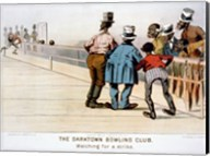The Darktown Bowling Club: Watching for a Strike Fine-Art Print