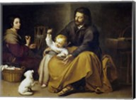 The Holy Family with a Small Bird Fine-Art Print