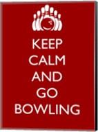 Keep Calm and Go Bowling Fine-Art Print