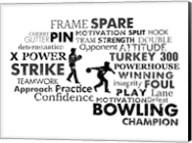 Bowling Text Fine-Art Print